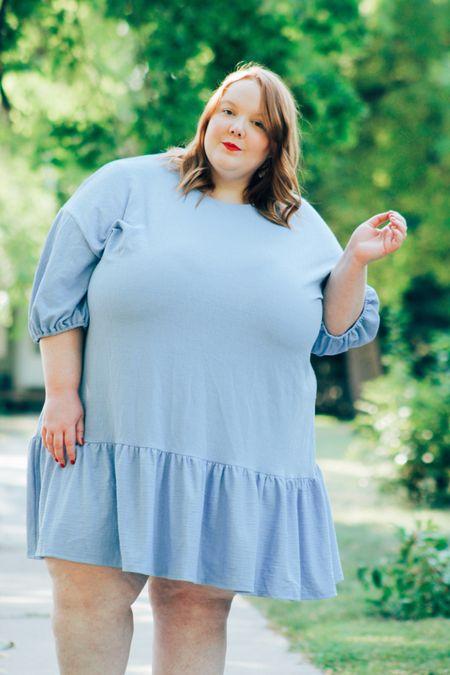 A roundup of plus size blue dresses!   #LTKunder50 #LTKstyletip #LTKcurves