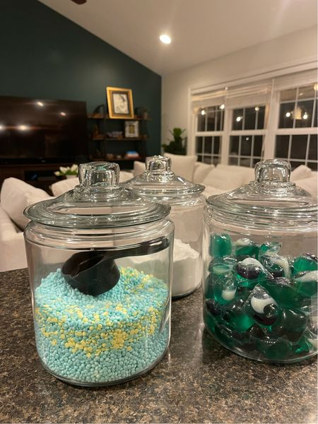 The perfect solution to your laundry supplies. Get organized with these perfect jars.   #LTKfamily #LTKunder50 #LTKhome