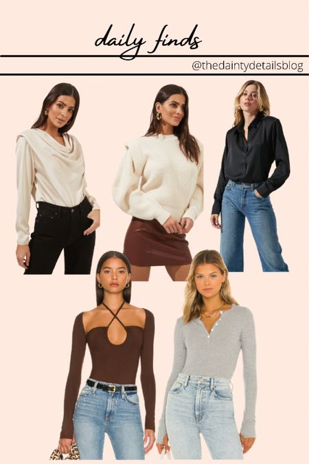 Daily finds: going out top, fall outfits, sweater, bodysuit, work outfits, cozy sweater   #LTKstyletip #LTKSeasonal #LTKunder100