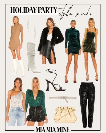 Holiday party outfits Sequin dress Sweater dress Sequin joggers  Knee high boots  Velvet dress  #LTKunder100 #LTKHoliday #LTKstyletip