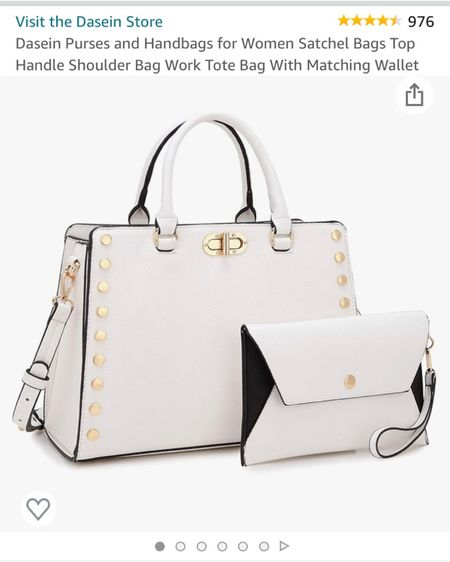 Just got this bag!! I love a good quality satchel handbag, especially for this price! It's less than $50! What a steal, I needed a white bag, especially for the summer time 🤍  http://liketk.it/3g5PP #liketkit @liketoknow.it #LTKitbag #LTKsalealert #LTKunder50