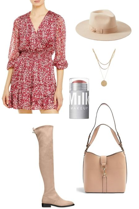 Transition into warmer weather with a flirty, floral print spring dress! This rosy print works well now with an OTK boot and wool hat. Come summer, pair it with a strappy sandal for a cute date night look. http://liketk.it/39jDm @liketoknow.it #liketkit #LTKSeasonal #LTKstyletip Download the LIKEtoKNOW.it app to shop this pic via screenshot