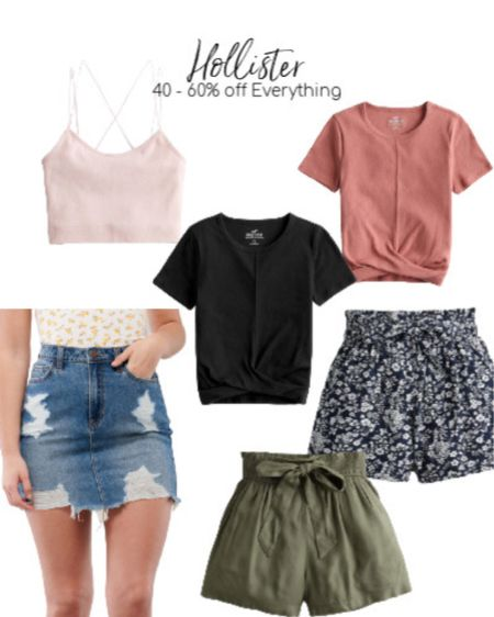 These knotted front tops are perfect basics to keep in your closed. There are so many ways to style them! Whether that's with some cute paperback style shorts, or paired with a cute jean skirt!   http://liketk.it/2PrmQ #liketkit @liketoknow.it #LTKunder50 #LTKstyletip #LTKsalealert