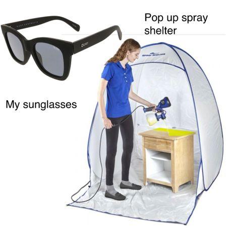 DIY paint shelter  Matte black sunglasses