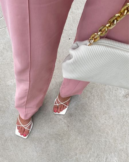 For some reason feet pics seem to do well… so here are my new shoes 😅 @princesspolly #princesspollyboutique #princesspolly   Pink trousers, summer trousers, summer style, summer outfit, pink outfit, dumpling bag, handbag, chain handbag, shoulder bag, lace up heels, summer sandals, strappy sandals, outfit details   #LTKshoecrush #LTKworkwear #LTKstyletip