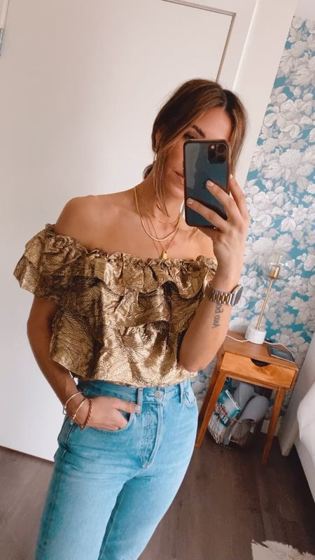 Crushing on this gold tiered top for spring!  #LTKstyletip