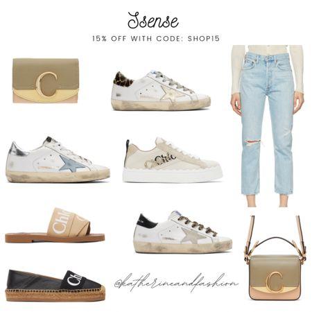 Chloe bags, Chloe sandals, Chloe espadrilles, agolde jeans, golden goose sneakers sale    #LTKshoecrush #LTKsalealert #LTKitbag