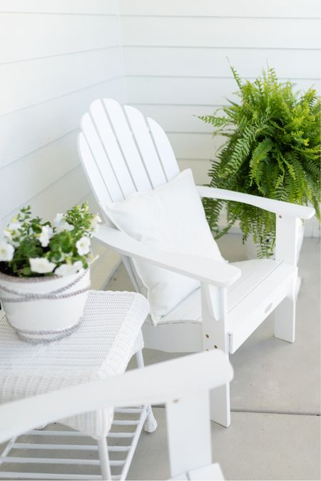Our Adirondack chairs are back in stock and marked down to $87! I love them for coffee in the mornings and perfect for roasting marshmallows!   #LTKSeasonal