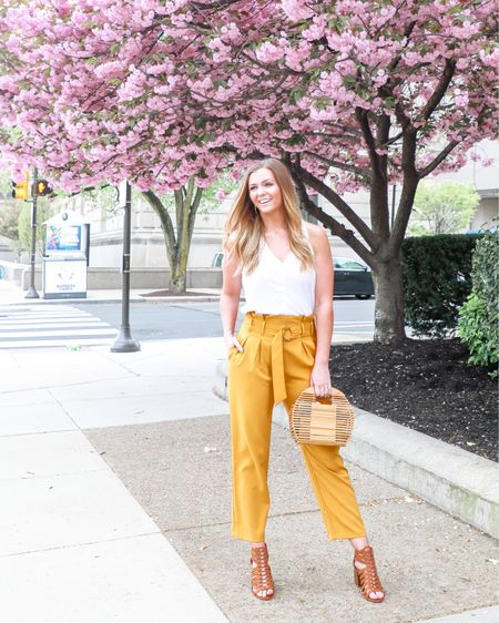 You're GOLD, baby ✨ When I went to shoot this look last weekend, I stopped into Peddler Coffee for an iced dirty chai (#life), and the baristas complimented both the pants AND the bag... Day = Made.  It's the little things, amiright?! So this week, I'm focusing on throwing more kind words around like confetti 🎉... ya dig?  Also spreading the word about these gold pants from @shopreddress! So slimming + I mean, the gold, y'all!💫  💋 Head to toe, I linked it all on the @liketoknow.it app! • Screenshot this photo & shop the details there! Link in my bio // #liketkit http://liketk.it/2BlHG     #LTKgetaway #LTKshoecrush #LTKsalealert #LTKspring #LTKstyletip #LTKunder50 #LTKunder100 #styleonabudget #lblogger  #influencerstyle #tallgirls #springfashion #collaborations #brandphotography #LTKtravel