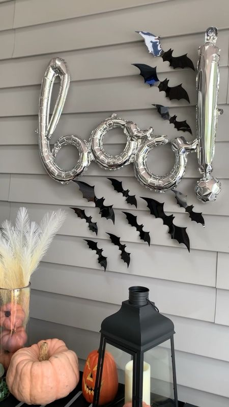 Easy #halloweenparty decorations! 🎃🦇 Tip: use  painter's tape so you don't ruin any walls putting up the bats and balloons.   #halloween #boo #halloweendecorations #halloweendecor #spooky #barcart #ltkhome #barcartstyling #halloweenparty #halloween2021  #ltkholiday #falldecor #bats #halloweenspirit #batty #halloweendecorations  #patiodecor #fallinspo #farmhousestyle #halloweenballoons  #halloweenhomedecor #ltkseasonal #halloweenpartyideas #halloweentime #pumpkindecor #hocuspocus