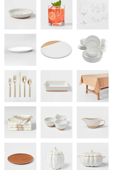 Host a beautiful thanksgiving dinner with these gorgeous items from Target!  #beautifultable #tablescape #dinnerparty #falltable #neutralhome #beautifuldecor #dinnertable #neutralstyle #target #targethome  #LTKunder100 #LTKSeasonal #LTKhome