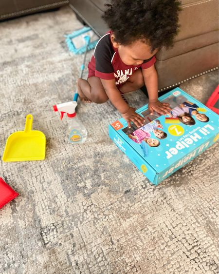 Toys for toddlers. Lil Helper Keeping Tidy Set at Target. http://liketk.it/3bBNj #liketkit @liketoknow.it #LTKbaby #LTKkids #LTKSpringSale You can instantly shop my looks by following me on the LIKEtoKNOW.it shopping app