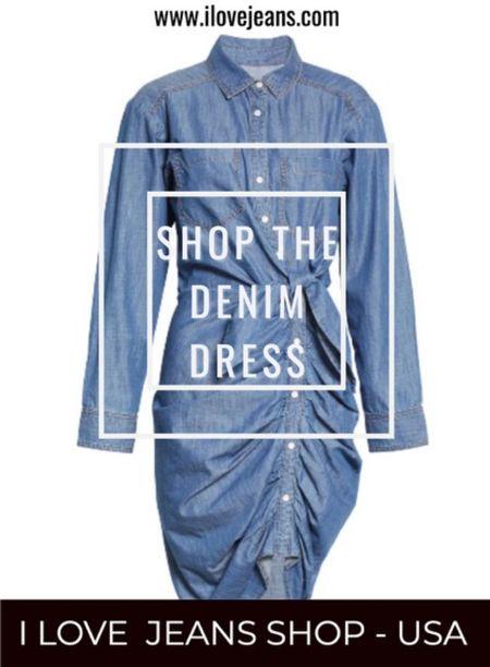 Denim dress, denim dress outfit, maxi denim dress, mini denim dress, midi denim dress.  Shop handpicked denim dresses at I Love Jeans Shop USA  #LTKstyletip #LTKeurope