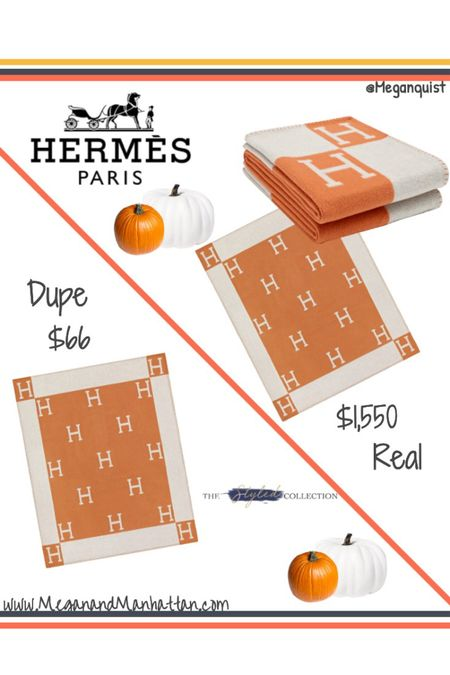 Daily Dupe! I can't believe how similar these Hermes Avalon throw blankets look 🧡 got the pre order for November, next round is December perfect Holiday Gift ✨✨  http://liketk.it/2XVJI #liketkit @liketoknow.it   #LTKhome #LTKsalealert #LTKunder100