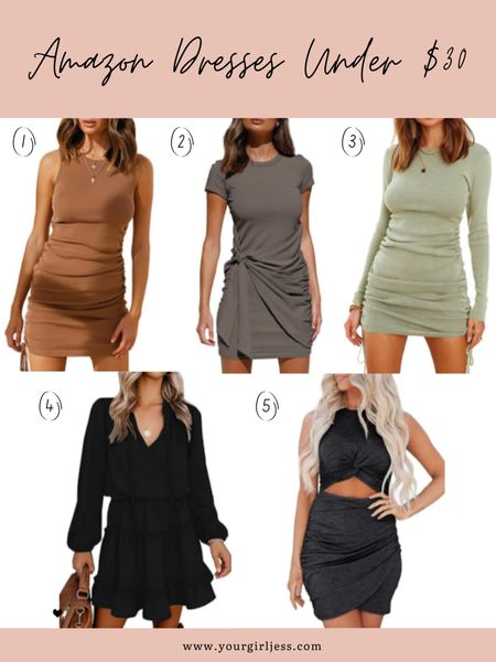 Shared multiple ways to style each dress for both summer and fall. Check it out: YOURGIRLJESS.COM   #LTKunder50 #LTKstyletip #LTKSeasonal