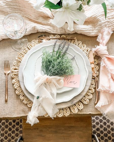 Table setting for Mother's Day💕 http://liketk.it/3eP8c #liketkit @liketoknow.it #LTKunder50 #LTKsalealert #LTKfamily @liketoknow.it.family @liketoknow.it.home Shop my daily looks by following me on the LIKEtoKNOW.it shopping app