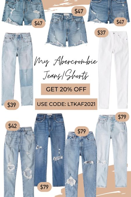 Some of my Abercrombie Jeans and Shorts on sale this weekend for 20% off  Use code: LTKAF2021  #LTKDay #liketkit http://liketk.it/3hnPb @liketoknow.it