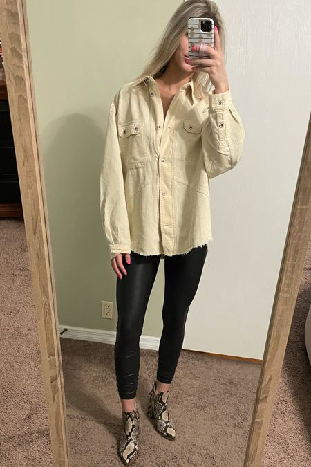 Oversized shacket, size down for a more fitted looked. Size up in booties & Spanx        Jacket Fall Nordstrom sale Nsale Nordy  Snake skin boots Steve Madden Booties outfit   #LTKshoecrush #LTKbump #LTKsalealert