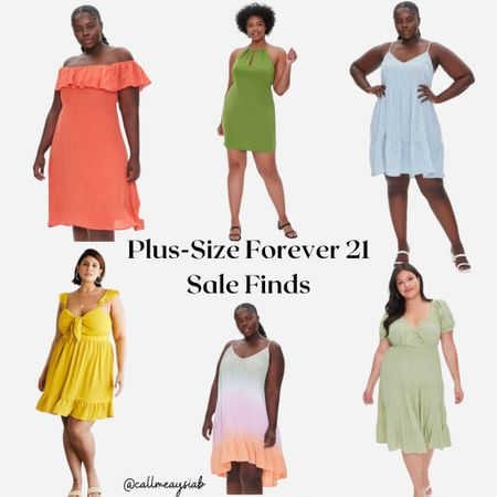 Forever 21 Plus size fashion sale finds! I love these midi and mini dresses! Perfectly colorful for this summer and so cute 😍   #LTKcurves #LTKunder50 #LTKsalealert