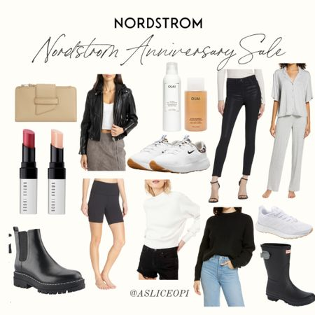 📷 Still some amazing finds and deals on the Nordstrom Anniversary Sale! Check out what I've rounded up! OUAI, wax pants, pajama set, All Saints wallet, Bobbi Brown lipstick, black boots, rain boots, Free People sweater, Nike sneakers, biker shorts, Adidas sneakers! http://liketk.it/3l9W1 #liketkit @liketoknow.it