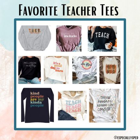 Is there anything better than a cute teacher tee? NO WAY 😍 Style with a cute cardigan & joggers!!!  #LTKunder50 #LTKworkwear #LTKstyletip