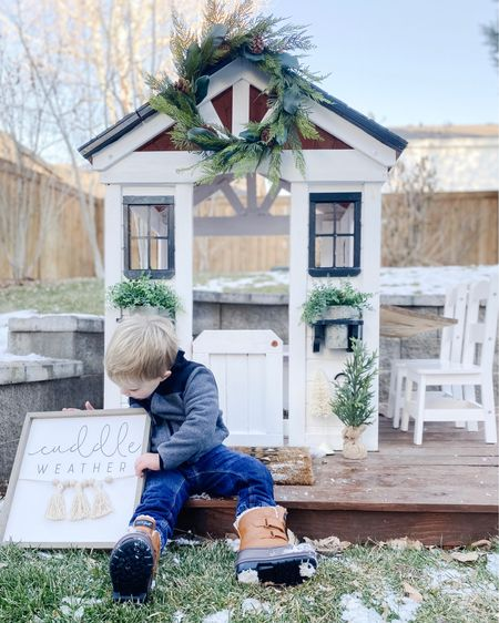 The kids and I had a blast decorating the playhouse for the holidays today. Btw, this playhouse is on sale for the lowest I've seen it yet! 🤗🌲 http://liketk.it/32Nik #liketkit @liketoknow.it #LTKgiftspo #LTKsalealert #LTKfamily @liketoknow.it.family @liketoknow.it.home