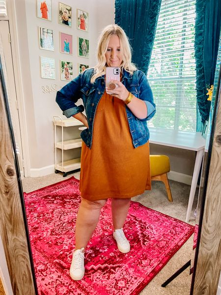 Wearing this exact look right now at the airport except rocking the blue version of this dress! It's so comfy and easy to wear (available in regular and plus in three colors)! Hoping to get back to Houston at a decent time and can't wait to pick up Dolly girl after work tomorrow!!   #LTKtravel #LTKcurves #LTKunder100