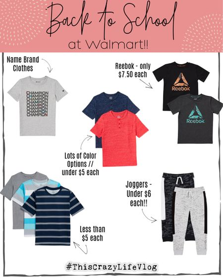I scored these amazing deals for some of the boys' back to school clothes! Some pieces are name brand, all are great quality & incredible deals... and the boys loved them! So I'm definitely a happy Mama! 🙌🏼   #LTKfamily #LTKunder50 #LTKkids