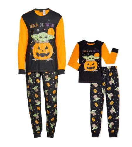 Halloween pajamas. Family pajamas. Trick or treat. Boo. Star Wars. Baby Yoda.  #LTKfamily #LTKkids #LTKSeasonal