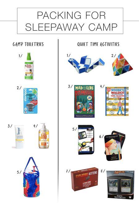 http://liketk.it/2BWEE #liketkit @liketoknow.it Shoppable Sleepaway Camp Packing List