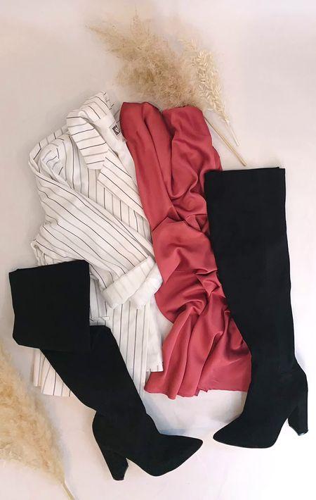 Perfect slip dress look for Valentines Day or date night!  #LTKSeasonal #LTKVDay #LTKunder50