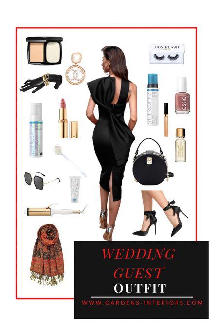 Wedding guest dress   #cocktaildress #lbd #blackdress #bachelorettedress #datenight #weddingguestdress #weddingguestdresses #selftan #goldearrings #statementearrings #amazonfinds #sheinfind #sheinhaul #chanelbeauty  #LTKwedding #LTKshoecrush #LTKitbag