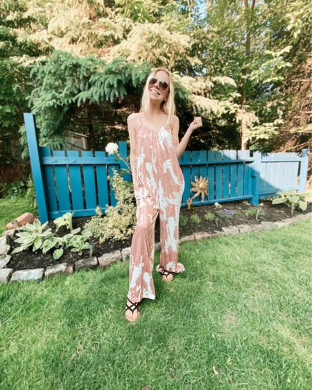In love with this tie dye jumpsuit! Silky material & fits true to size! http://liketk.it/3ho5A #liketkit @liketoknow.it   #LTKDay #LTKstyletip #LTKunder100
