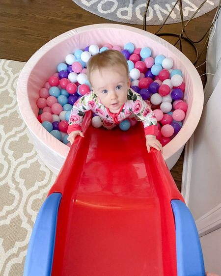 Foam ball pit, 400 balls, + slide http://liketk.it/39sLH @liketoknow.it #liketkit #LTKfamily #LTKbaby #LTKkids