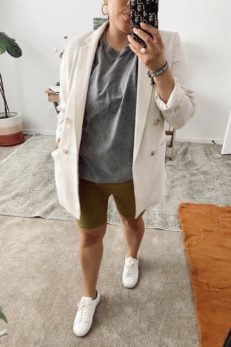 Shorts and blazer look http://liketk.it/3bTKV #liketkit @liketoknow.it #LTKSpringSale #LTKcurves #LTKsalealert