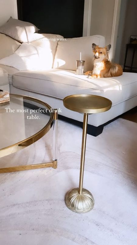 The most perfect gold drink table from target is awesome to hold my wine! Goes between my two accent chairs in the living room.    #LTKhome #LTKeurope #LTKSeasonal