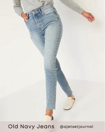 Old navy jeans   #oldnavy #oldnavyjeans #oldnavyfinds  #LTKSeasonal #LTKunder50 #LTKunder100