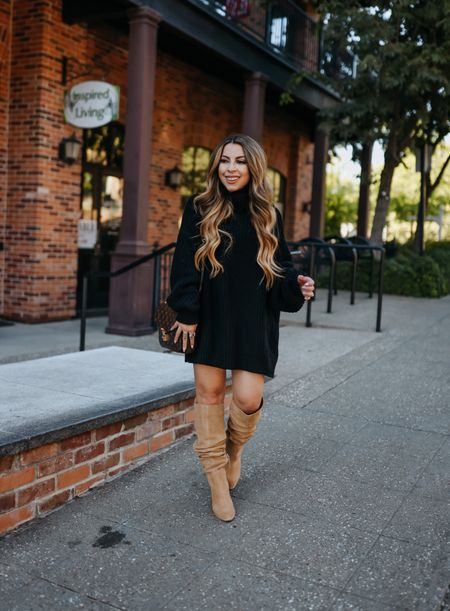 Love this oversized sweater. Size up to wear as a dress. My boots are under $100 and can be worn under or over the knee. Run tts  #nsale Nordstrom sale   #LTKshoecrush #LTKsalealert #LTKunder100