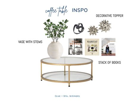 Look no further for some coffee table styling inspiration.  Coffee table decor, living room decor, home accessories, home decor, vase with stems, faux stems, coffee table books  #LTKhome