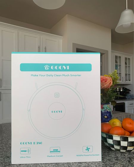 You know you're getting old when getting a robotic vaccum cleaner in the mail is the best part of your day 😂 this Goovi Robot Vacuum is pn major sale right now for $153! Insane deal? Over 8,000 4.5 stars on Amazon.   Head here for the link: http://liketk.it/2YhTC #liketkit @liketoknow.it #LTKsalealert #LTKhome