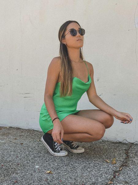 Green dress 💚  #LTKHoliday #LTKunder50 #LTKunder100
