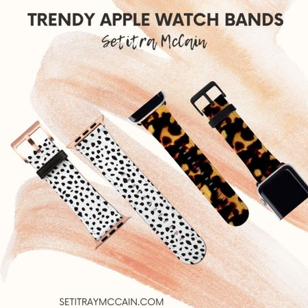 Animal print Apple Watch bands, very cute, classy and trendy! Check them out 🖤  #LTKworkwear #LTKstyletip #LTKunder50