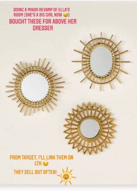 Gold accent mirrors for baby nursery/bedroom  #LTKbaby #LTKfamily #LTKhome