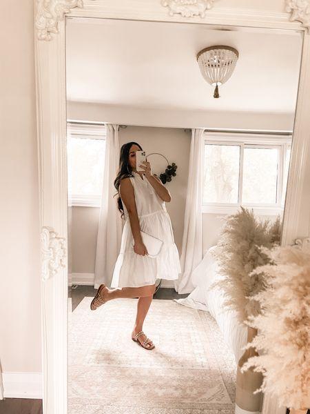 White dresses are so fun. Perfect for wedding, bridal shower, baby shower! Great maternity dress (non)!   #LTKstyletip #LTKbump #LTKwedding