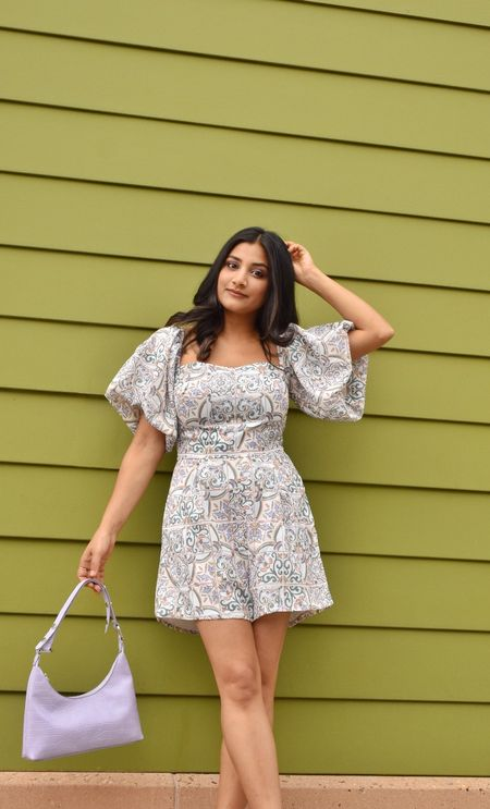 This petite friendly jumpsuit is all I want to wear until the summers last. I am wearing size xs. It's super comfortable and the sleeves are so flattering.   #LTKsalealert #LTKstyletip #LTKunder100