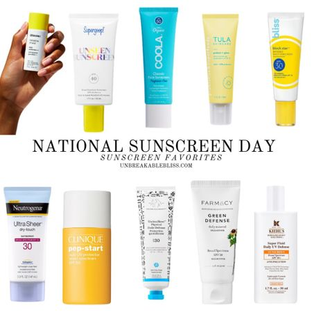 Did you know today is National Sunscreen Day? Here are some great SPF products to help protect your skin from the sun! @liketoknow.it #liketkit #LTKbeauty #LTKunder50 #LTKswim http://liketk.it/3gk2y
