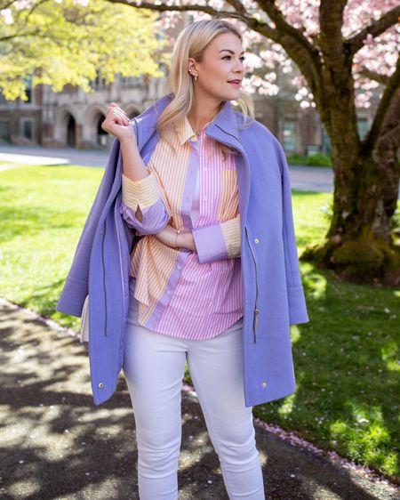 Spring style, Spring outfits white denim, ASOS fashion @liketoknow.it http://liketk.it/3dTYF #liketkit #LTKworkwear #LTKstyletip #LTKunder100