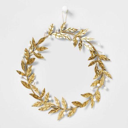 the sweetest gold wreath for the holidays ✨  #LTKSeasonal #LTKhome #LTKunder50