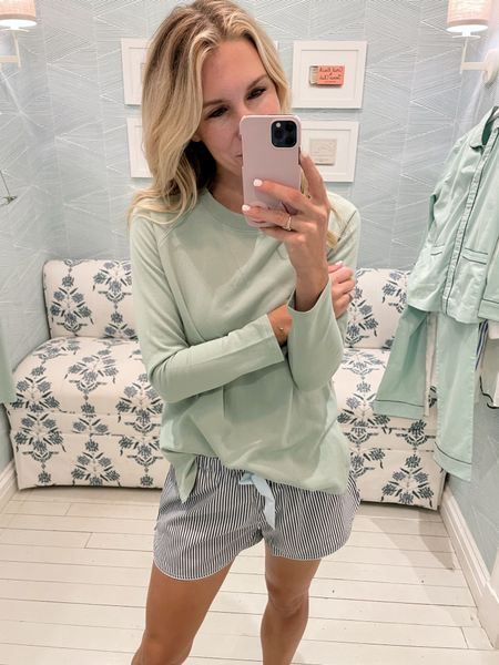 A cozy lounge sweatshirt that I'd wear out of the house with jeans or leggings too! The lounge shorts come in tons of colors too!  #LTKunder100