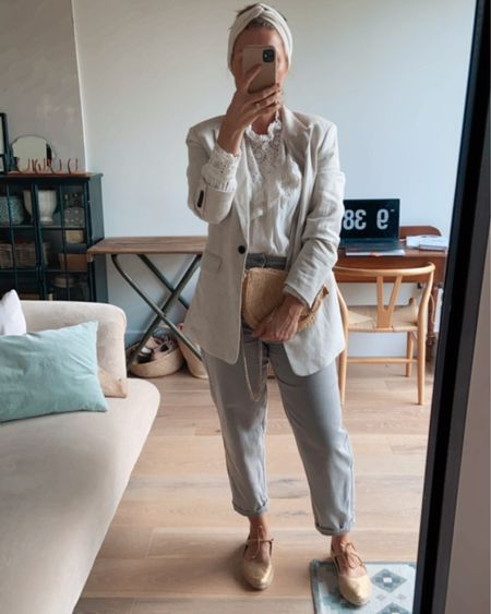 Sunday style- embroidered blouse, jeans, blazer and flat espadrilles http://liketk.it/3iZbT #liketkit @liketoknow.it #LTKeurope #LTKstyletip #LTKunder100 @liketoknow.it.europe @liketoknow.it.home